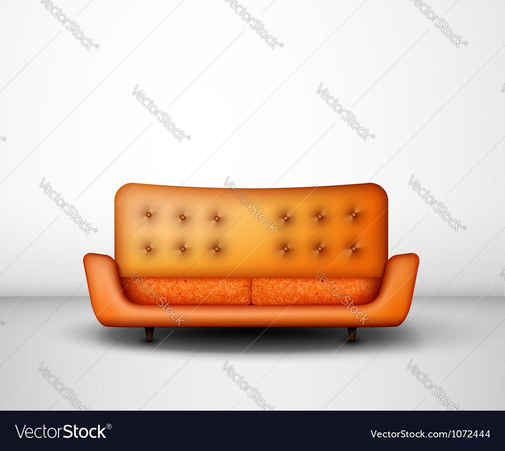 Orange sofa vector | Price: 1 Credit (USD $1)