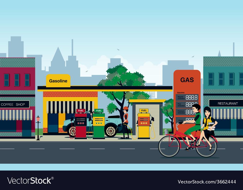 Petrol station vector | Price: 1 Credit (USD $1)