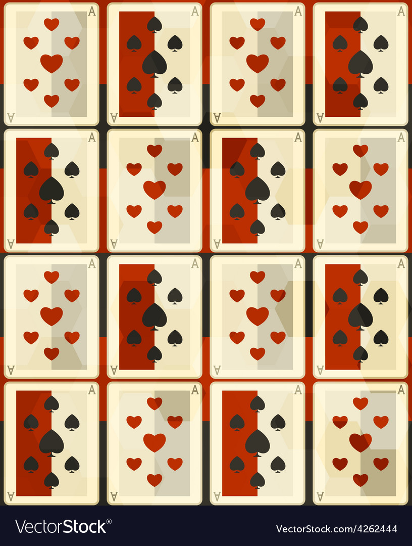 Poker cards seamless vector   Price: 1 Credit (USD $1)