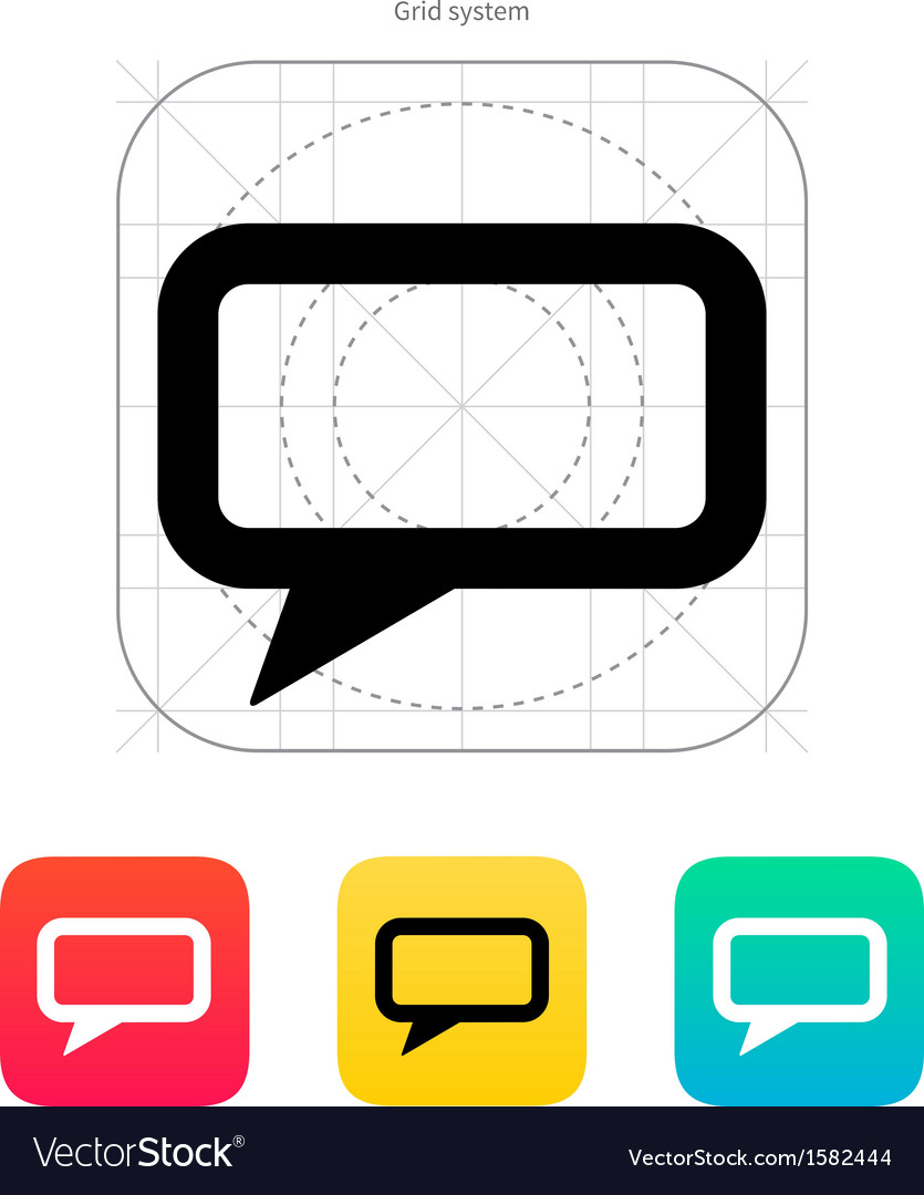 Rectangular bubble icon vector | Price: 1 Credit (USD $1)