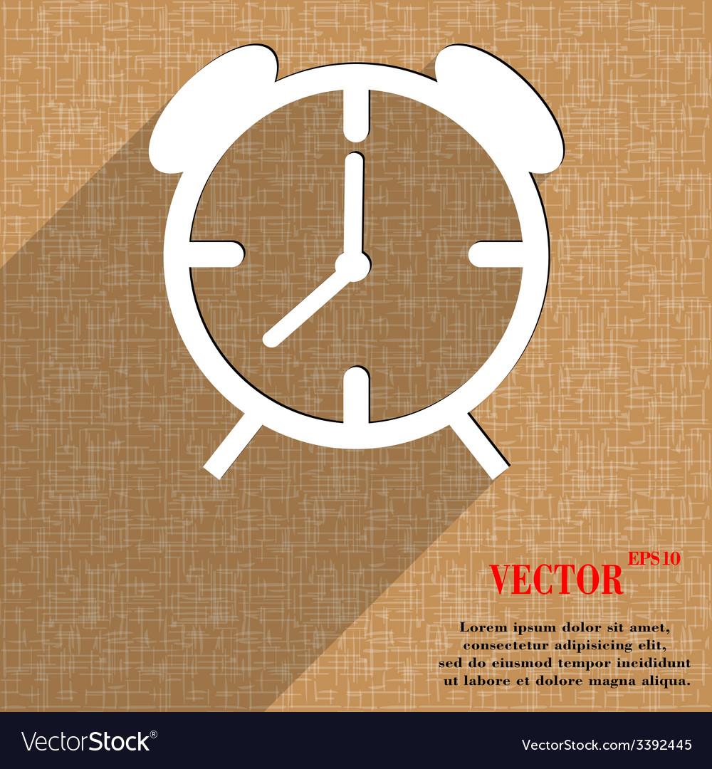 Alarm clock icon symbol flat modern web design vector   Price: 1 Credit (USD $1)