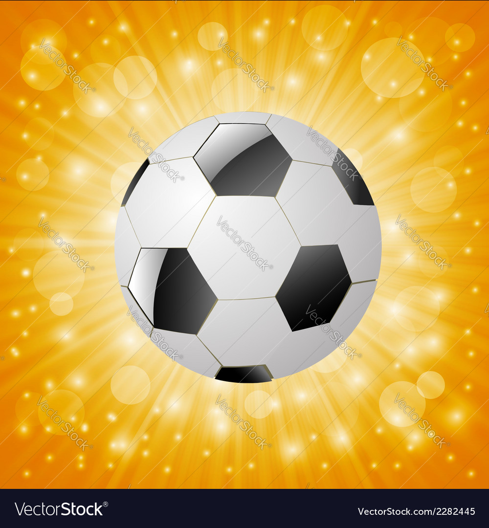 Ball on a sun background vector | Price: 1 Credit (USD $1)