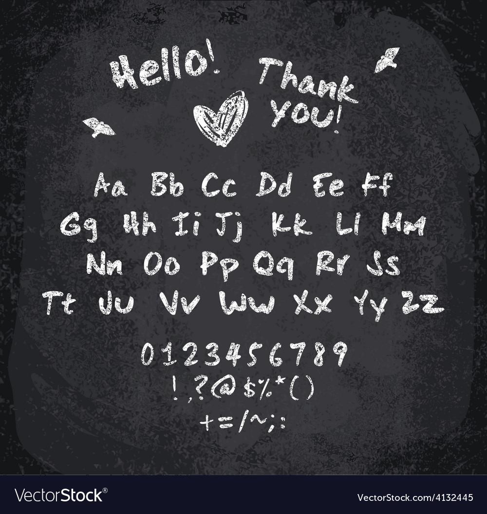 Chalked alphabet vector | Price: 1 Credit (USD $1)