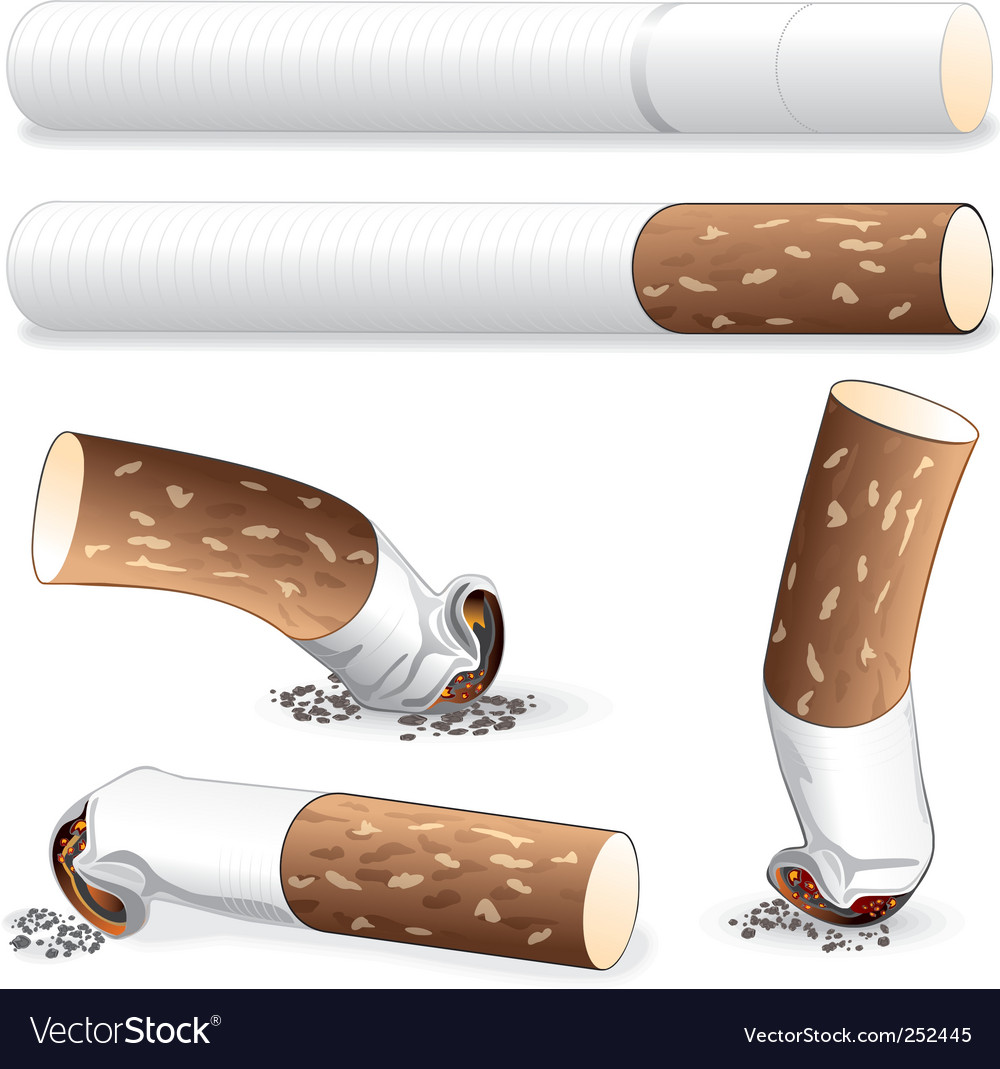 Cigarette butt vector | Price: 3 Credit (USD $3)