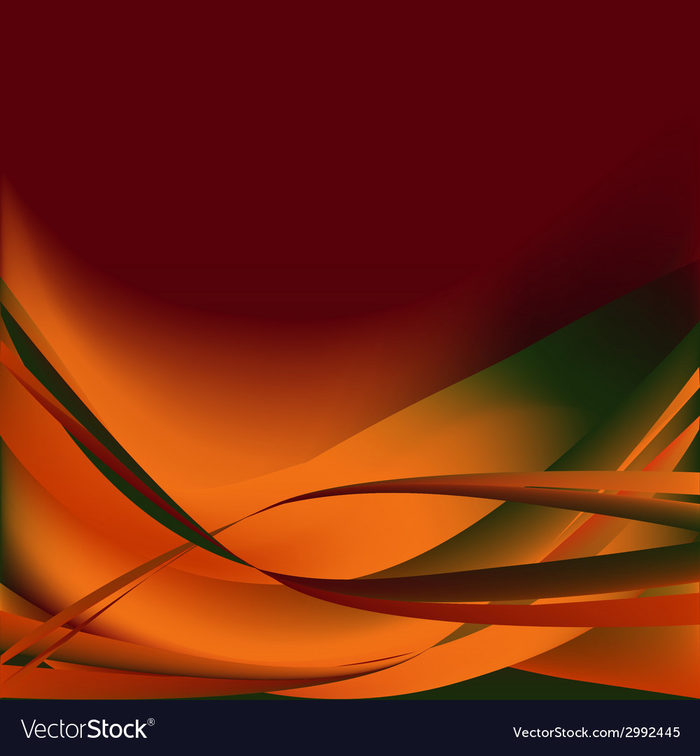 Colorful waves isolated abstract background autumn vector | Price: 1 Credit (USD $1)