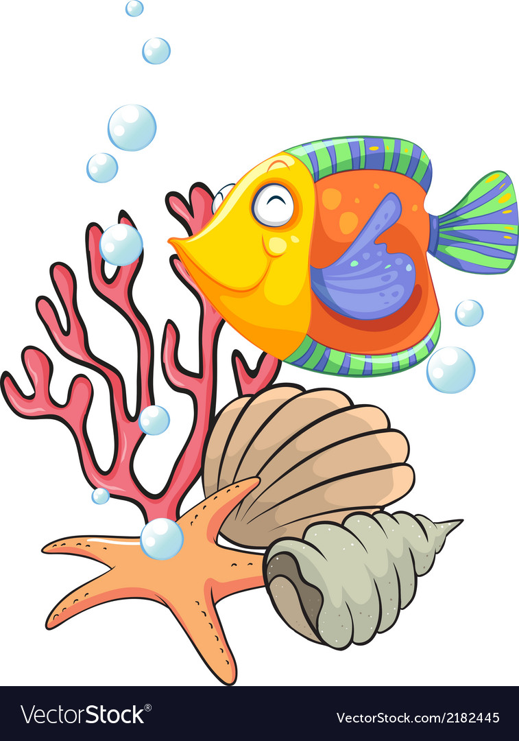 Different sea creatures vector | Price: 1 Credit (USD $1)