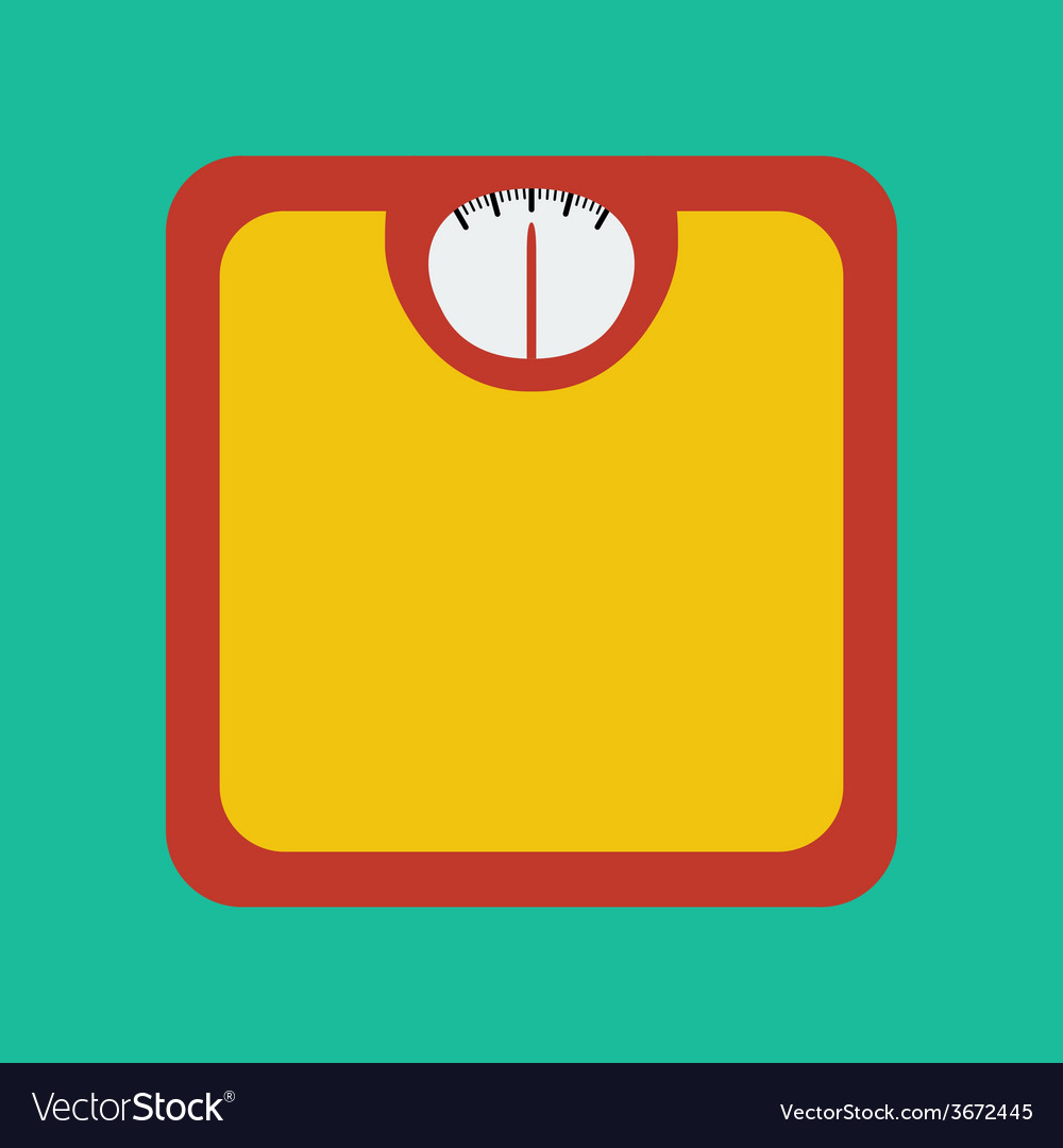 Flat icon of bathroom scale vector | Price: 1 Credit (USD $1)