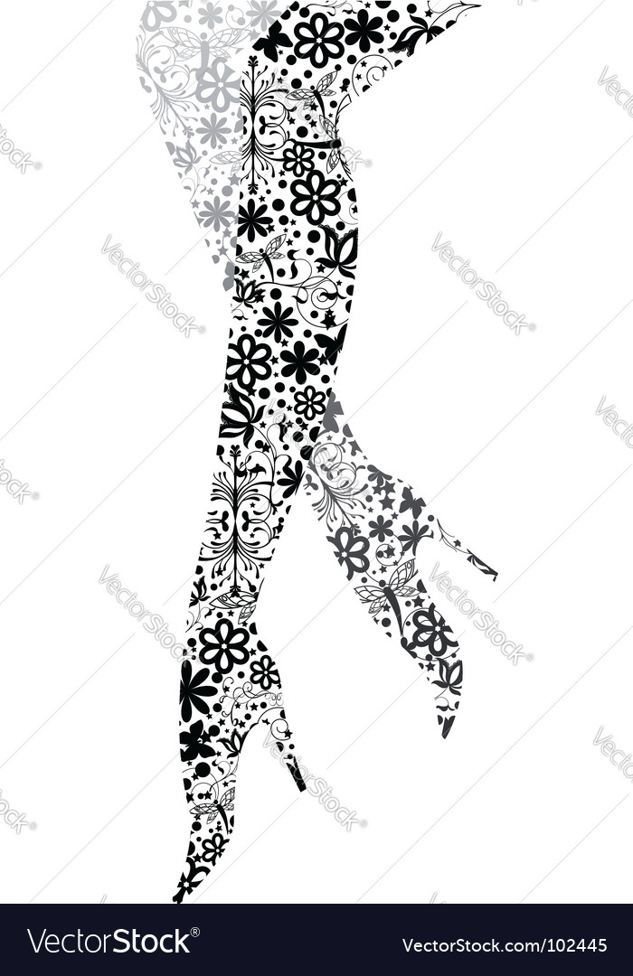 Glamour fashion legs vector | Price: 1 Credit (USD $1)