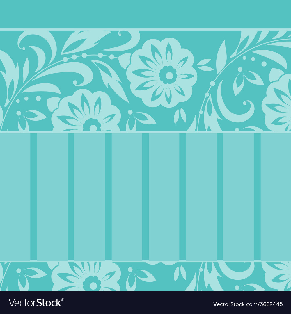 Greeting card with floral ornament vector | Price: 1 Credit (USD $1)
