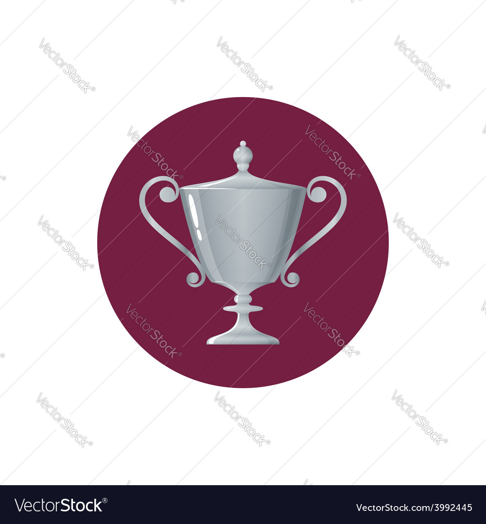 Icon cup of winnericon silver trophy cup vector | Price: 1 Credit (USD $1)