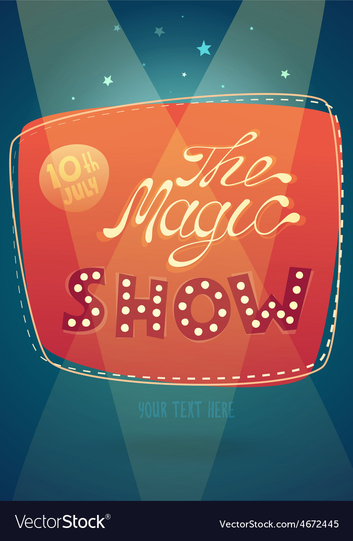 Magic show signboard background vector | Price: 3 Credit (USD $3)