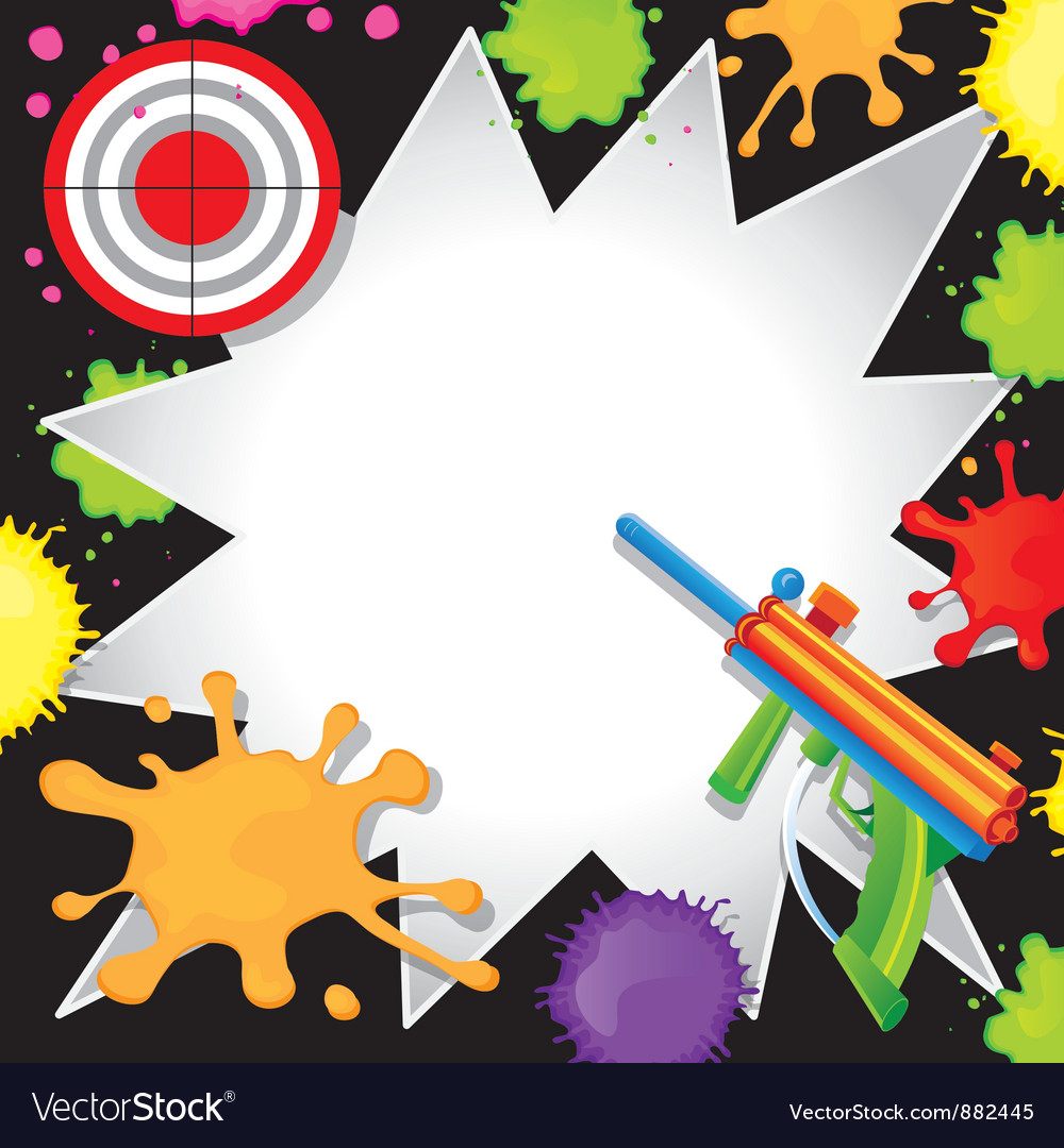 Paintball birthday invitation vector | Price: 1 Credit (USD $1)
