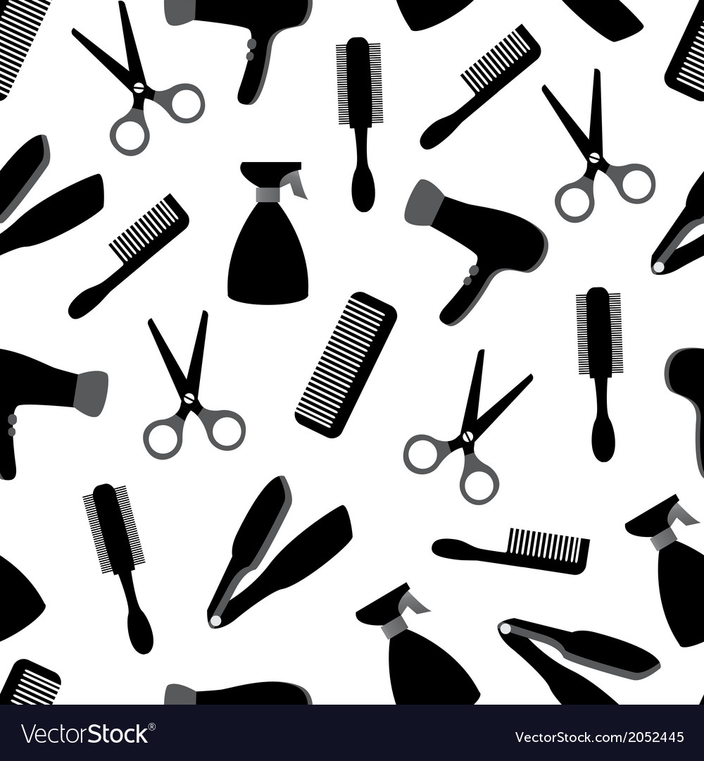 Seamless background with barber equipment vector | Price: 1 Credit (USD $1)