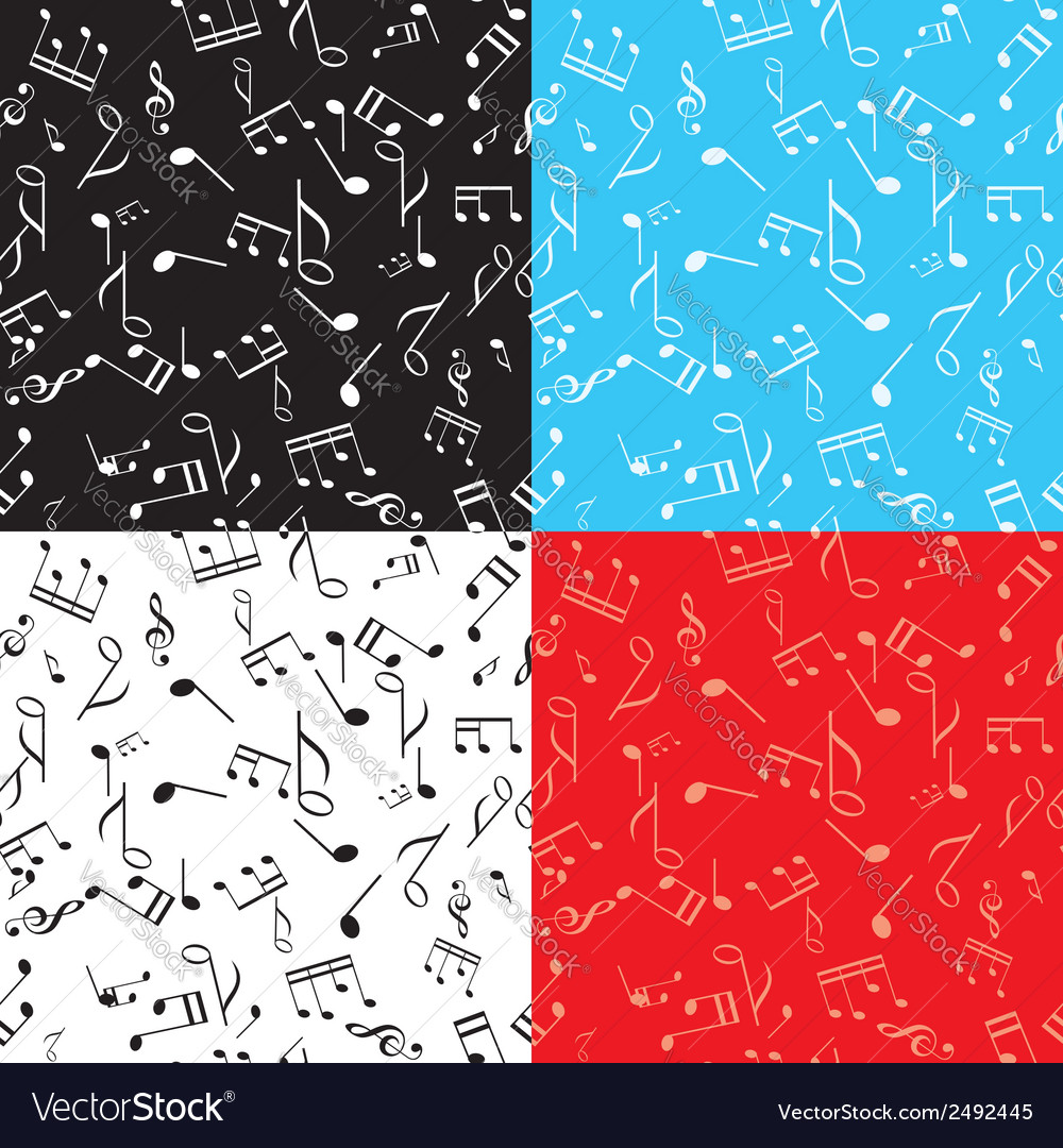 Set - seamless music textures vector | Price: 1 Credit (USD $1)