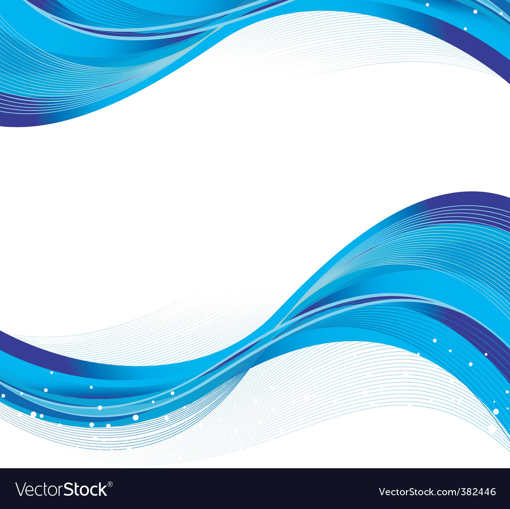 Abstract blue back waves vector | Price: 1 Credit (USD $1)