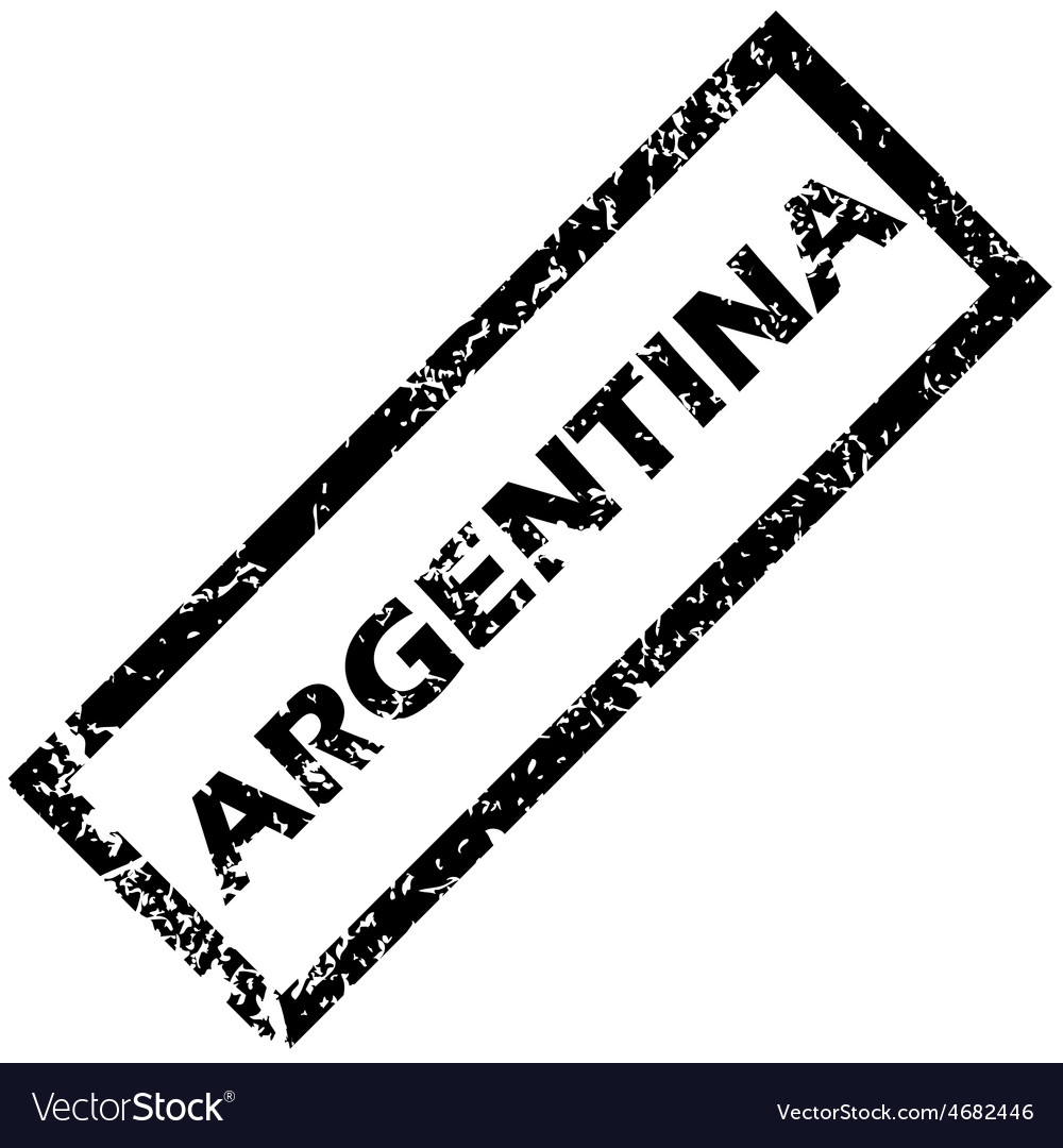 Argentina rubber stamp vector | Price: 1 Credit (USD $1)