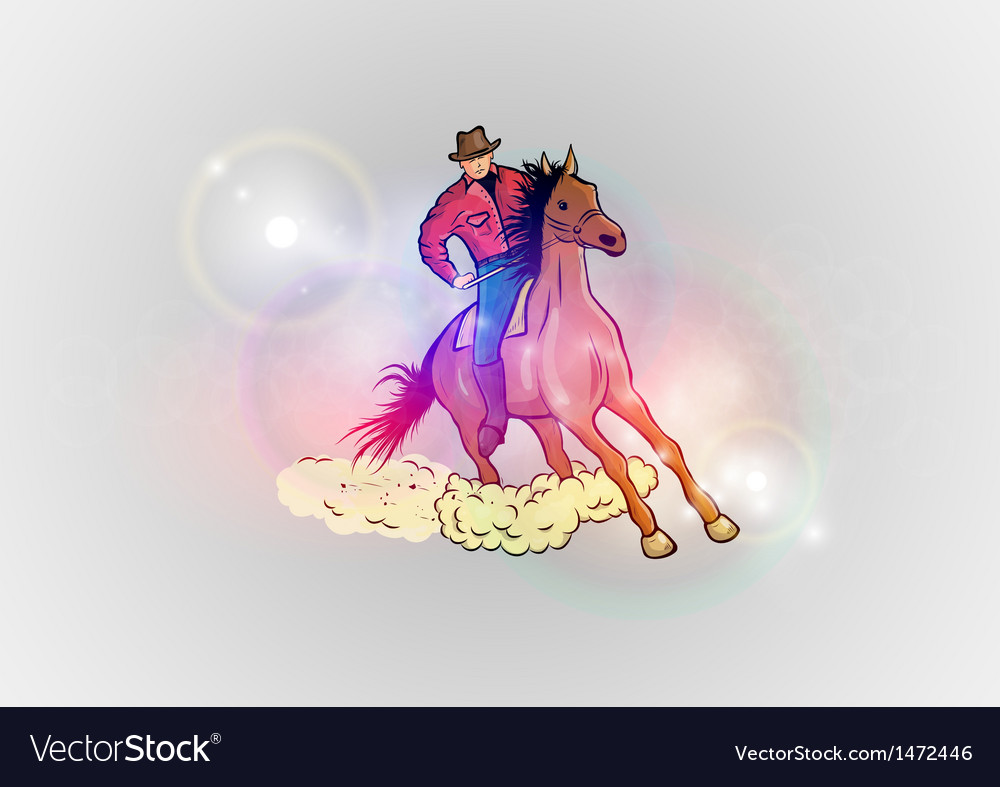Background abstract with horse western vector | Price: 1 Credit (USD $1)