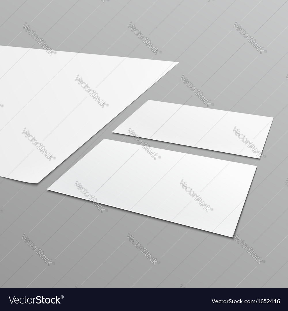 Blank stationery layout a4 paper business card vector | Price: 1 Credit (USD $1)