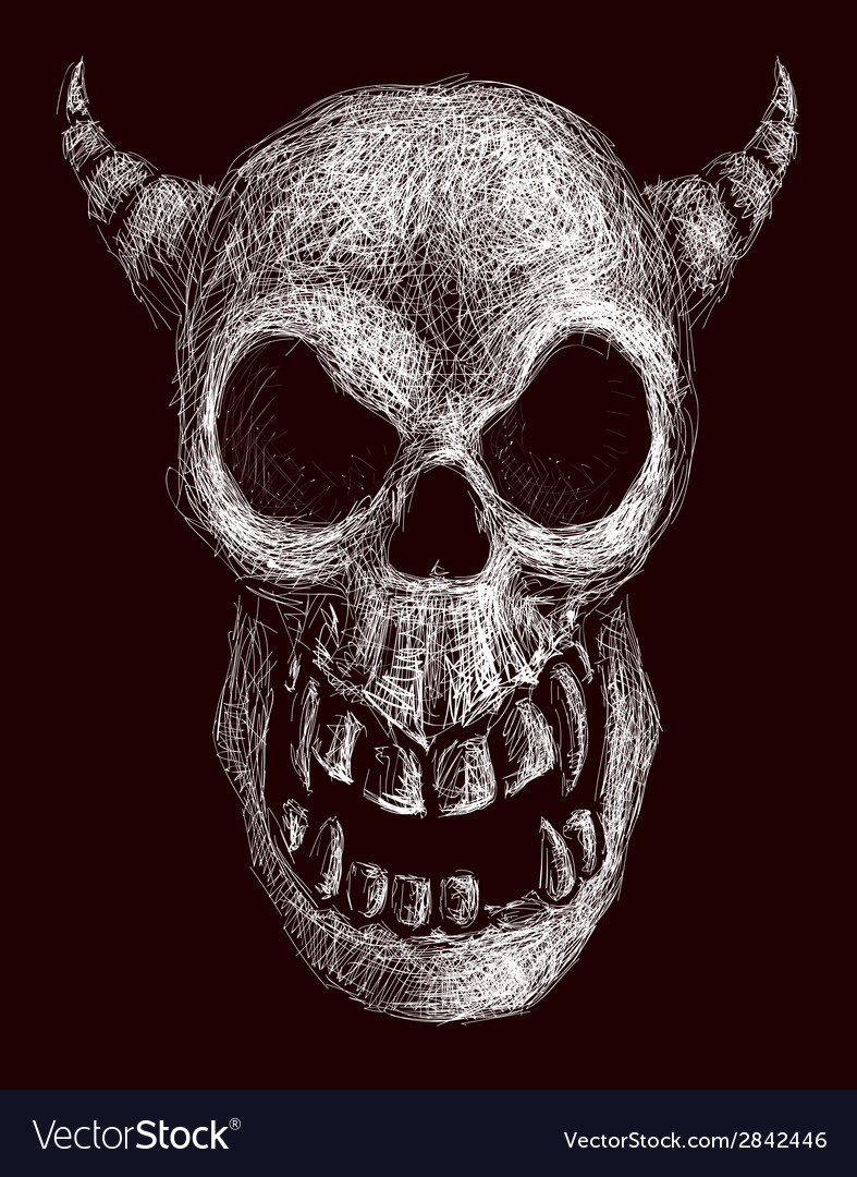 Daemon skull vector | Price: 1 Credit (USD $1)
