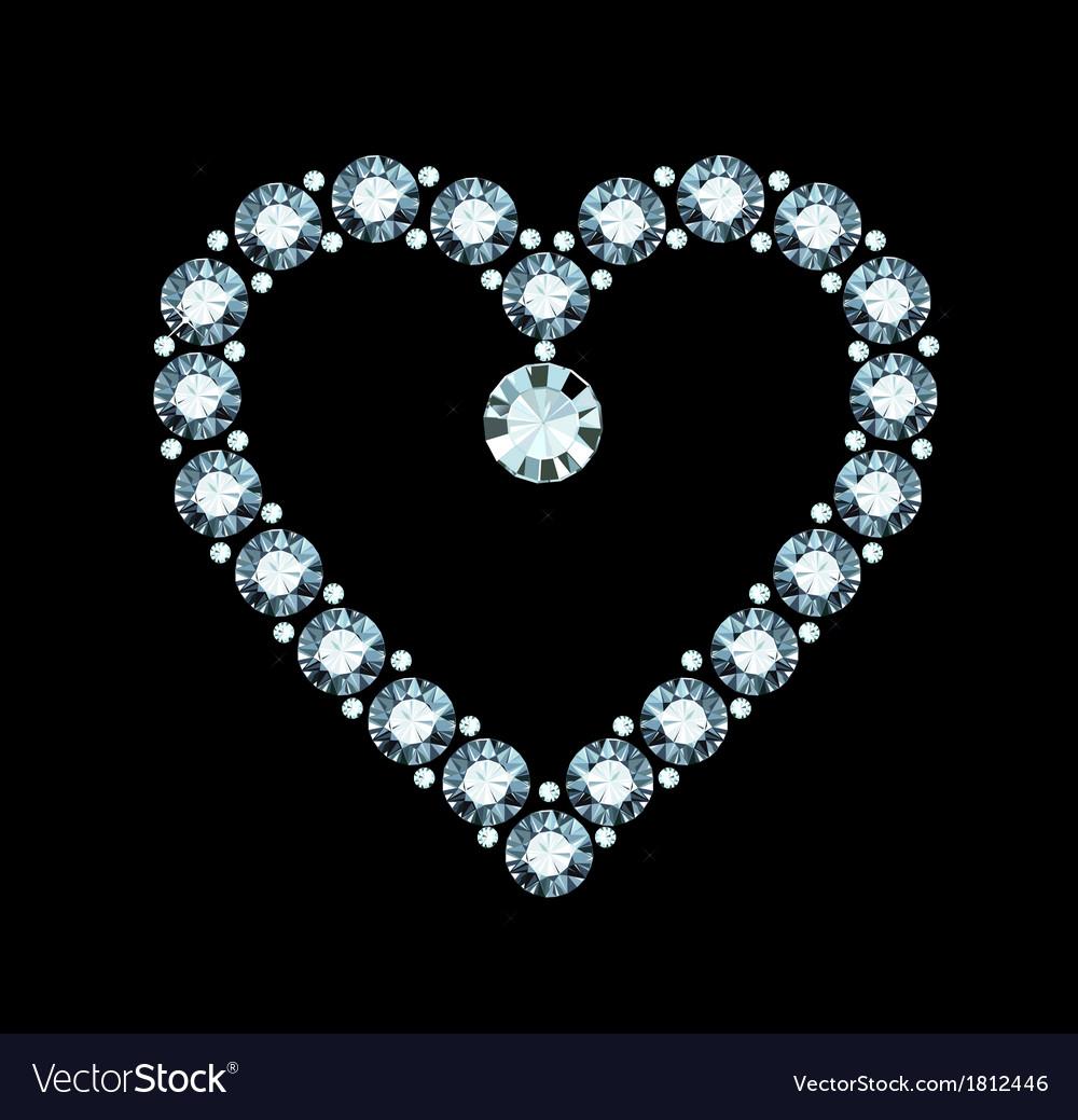 Diamond heart vector   Price: 1 Credit (USD $1)