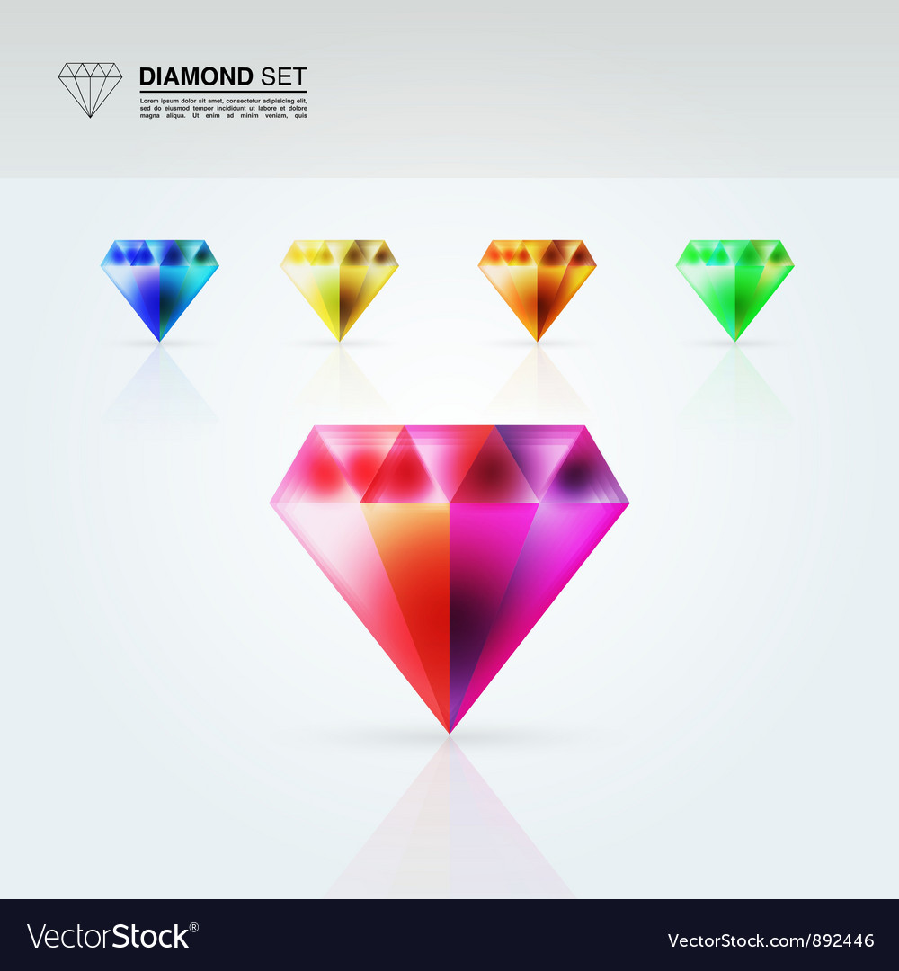 Diamond set vector | Price: 1 Credit (USD $1)