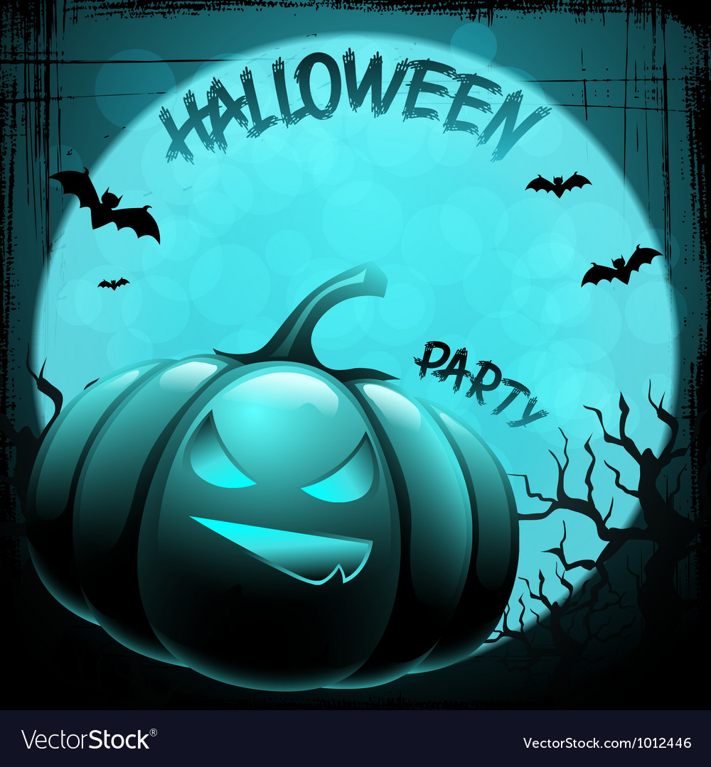 Eps 10 halloween background with moon bats and vector | Price: 1 Credit (USD $1)
