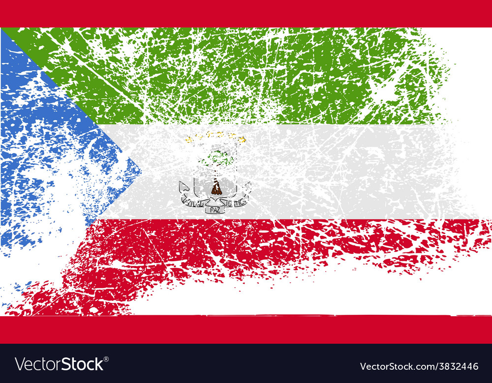 Flag of equatorial guinea with old texture vector | Price: 1 Credit (USD $1)