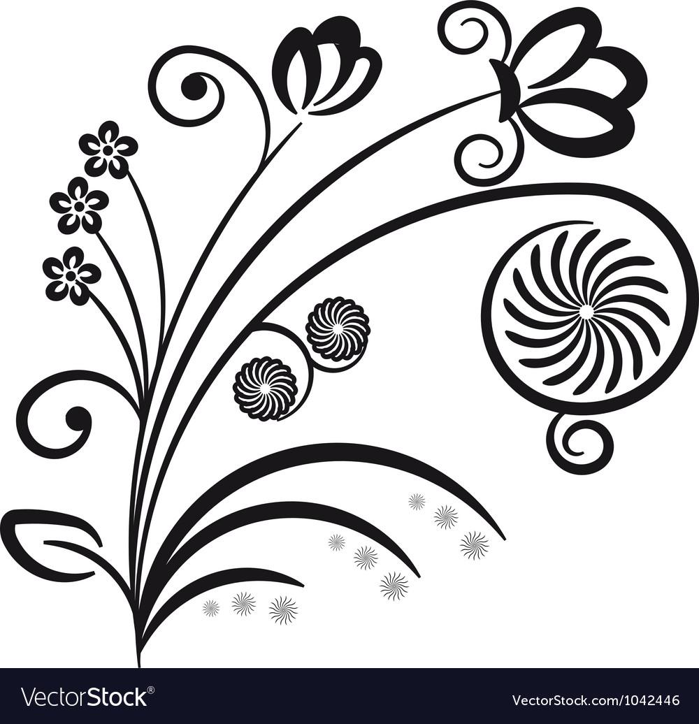 Floral ornament decorative branch vector | Price: 1 Credit (USD $1)