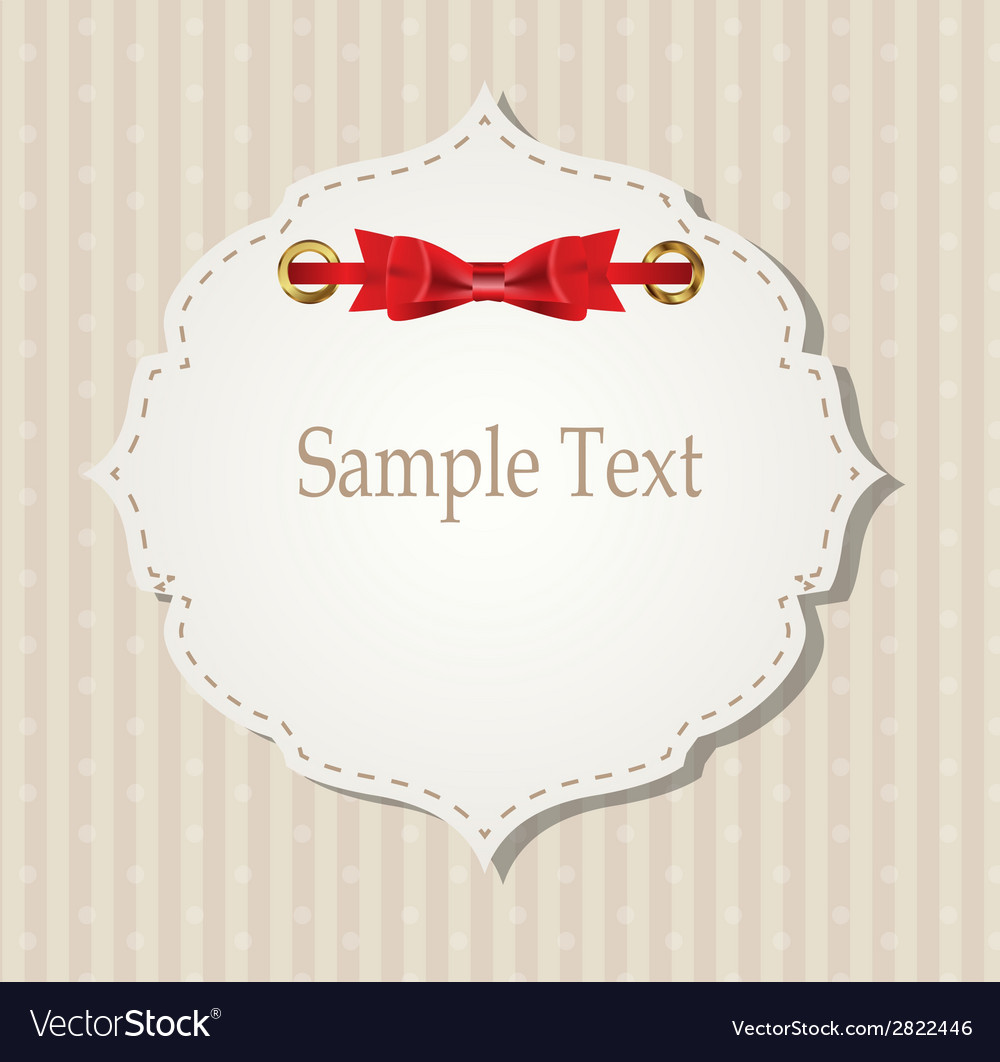 Gift card with ribbons design elements vector | Price: 1 Credit (USD $1)