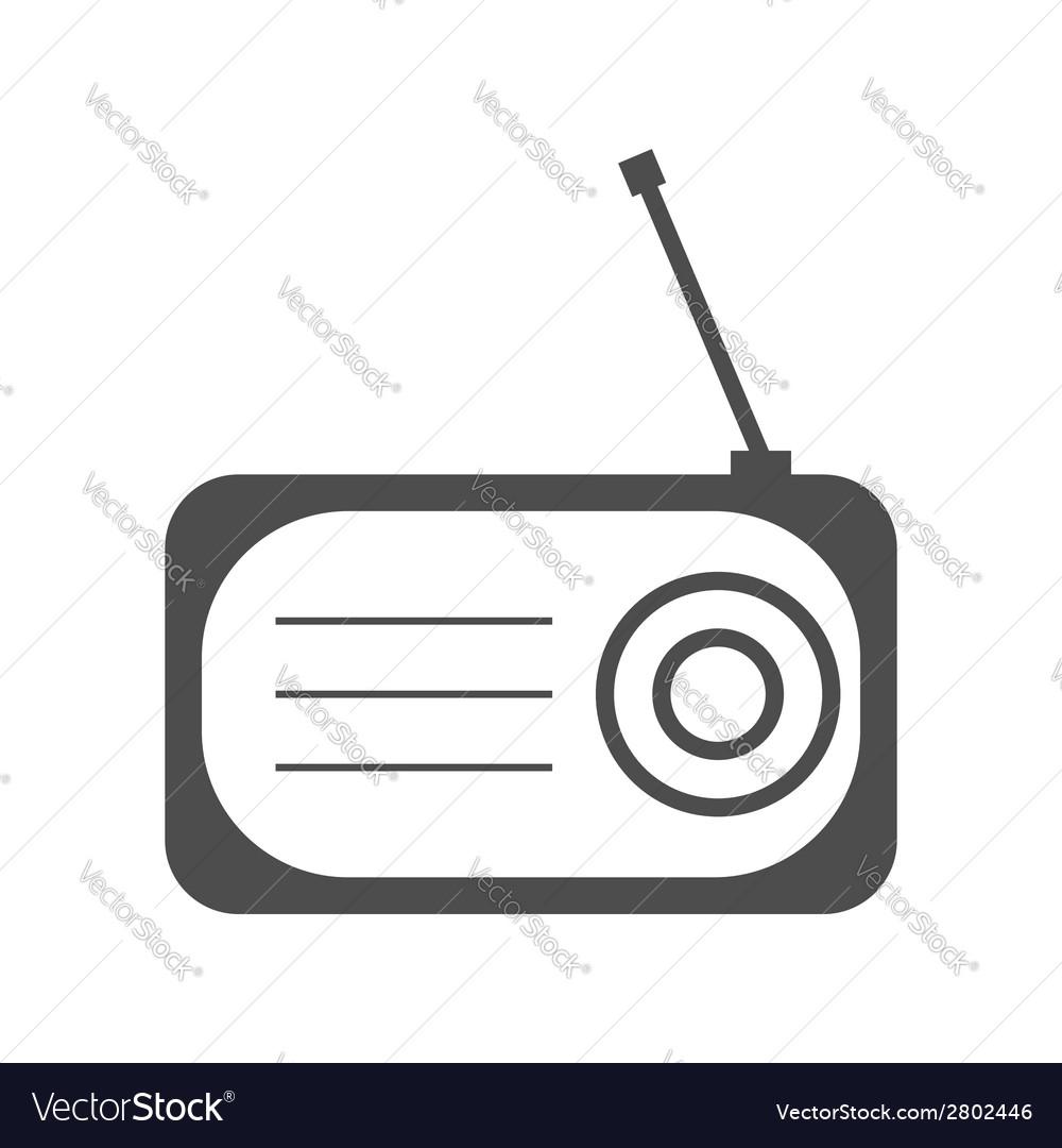 Radio flat icon silhouette vector   Price: 1 Credit (USD $1)