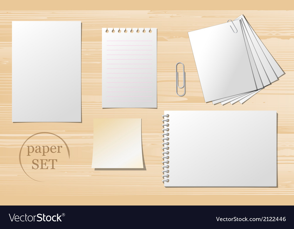 Set of paper sheets vector | Price: 1 Credit (USD $1)