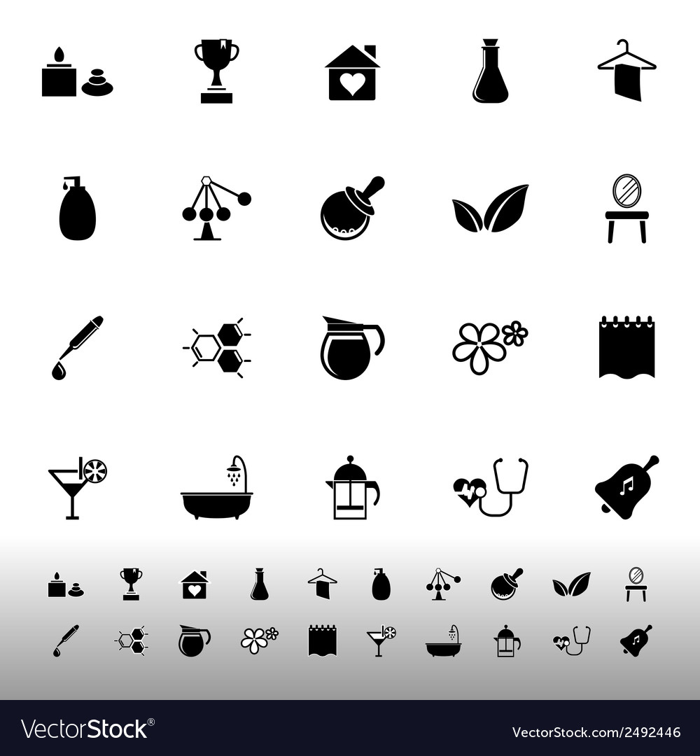 Spa treatment icons on white background vector   Price: 1 Credit (USD $1)