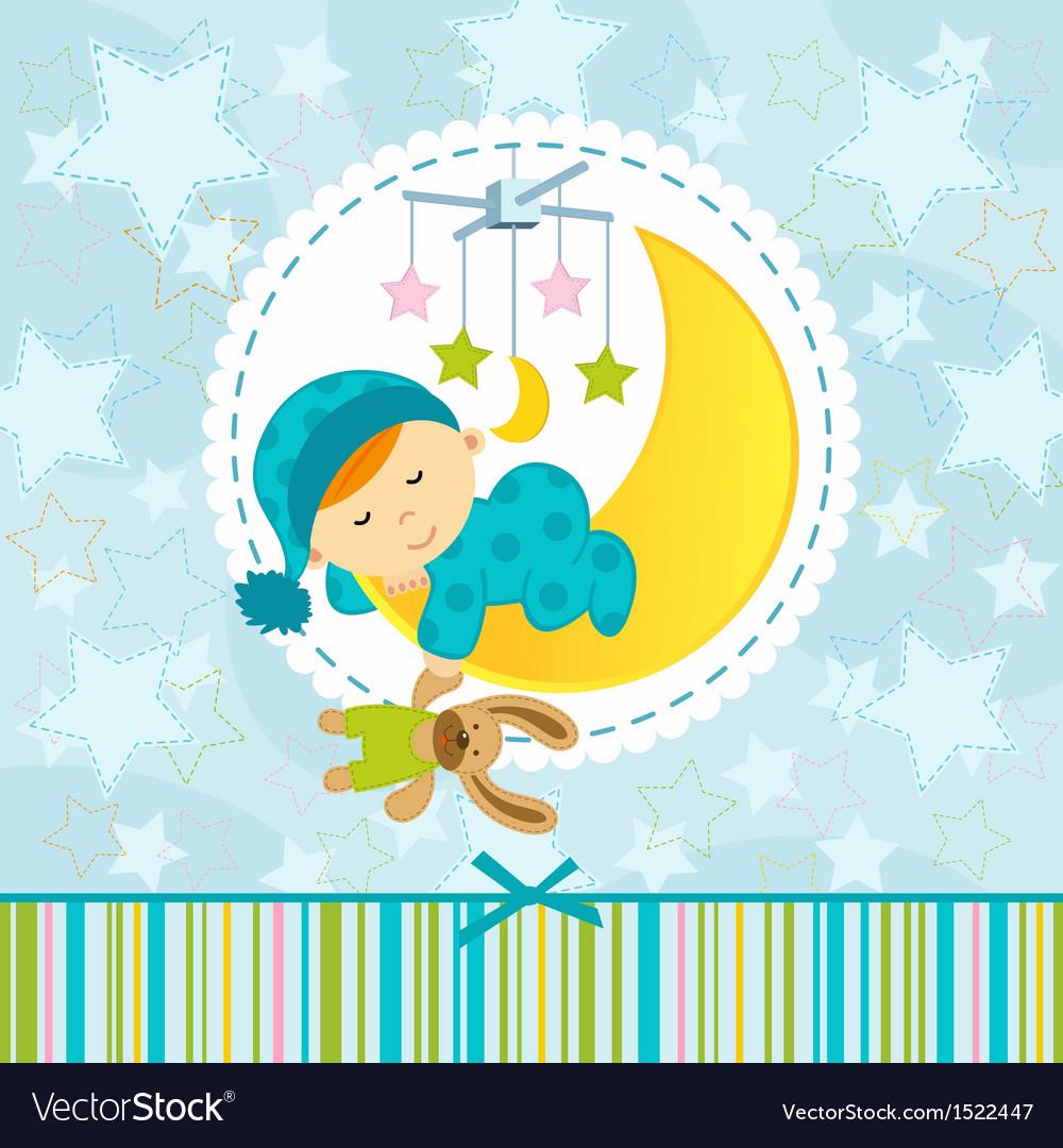 Baby boy sleeping vector | Price: 1 Credit (USD $1)