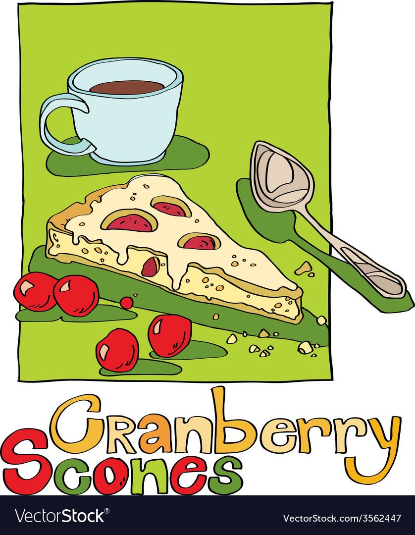 Cranberry scones vector   Price: 1 Credit (USD $1)