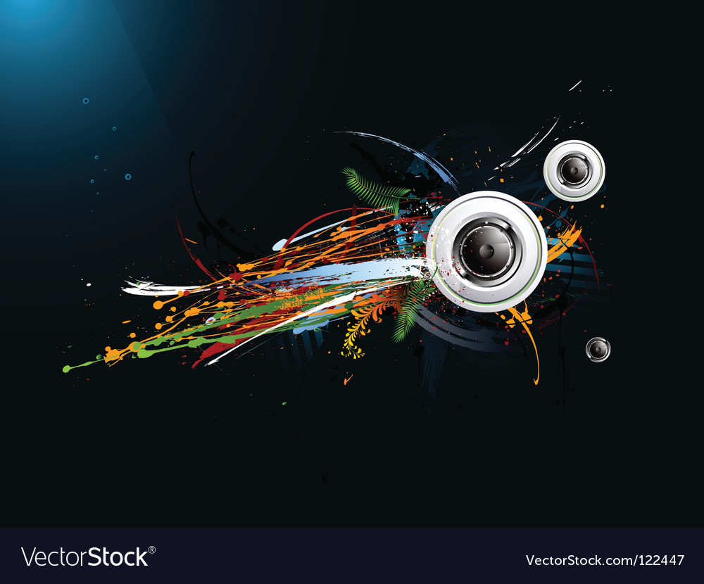 Dirty abstract grunge background loudspeaker vector | Price: 1 Credit (USD $1)