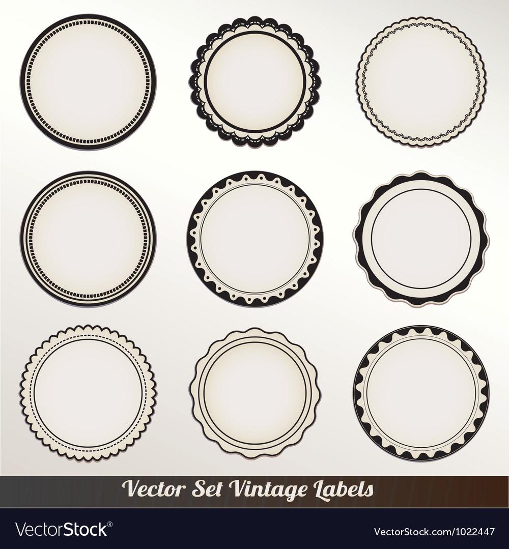 Frame labels set ornamental vintage vector | Price: 1 Credit (USD $1)