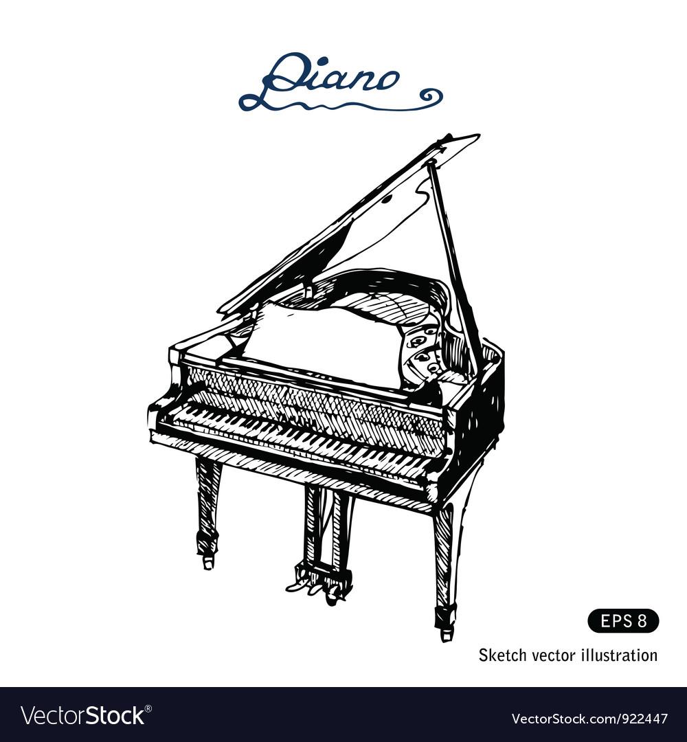 Grand piano vector | Price: 1 Credit (USD $1)