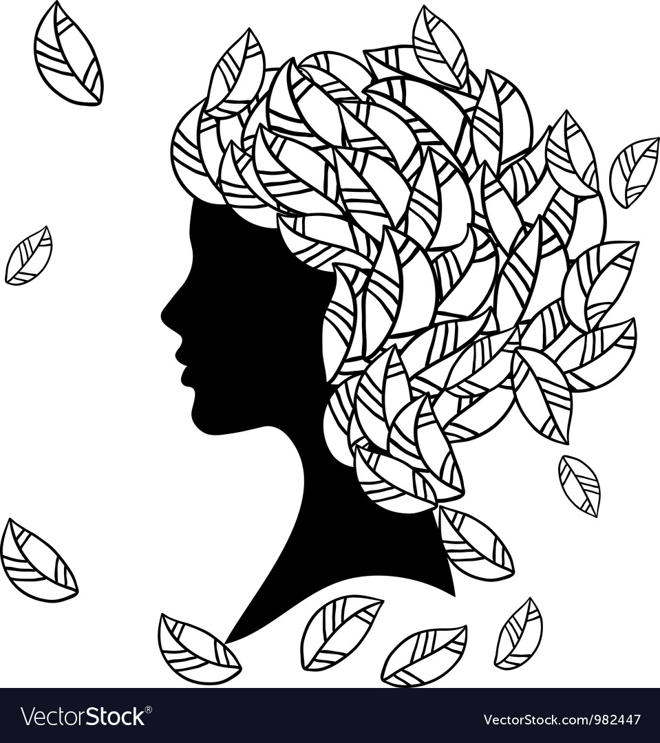 Hairstyles silhouette vector | Price: 1 Credit (USD $1)