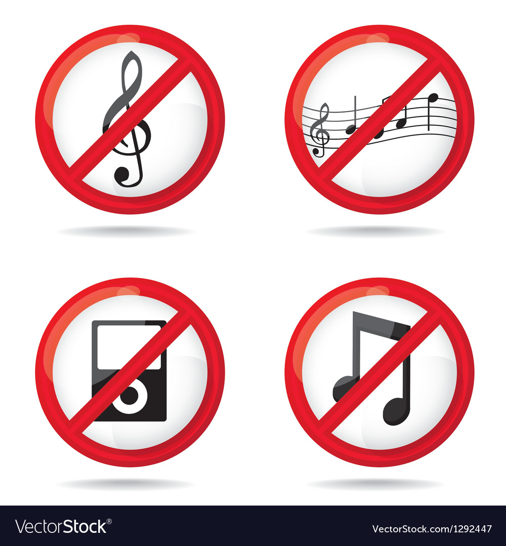 No sign prohibited vector | Price: 1 Credit (USD $1)