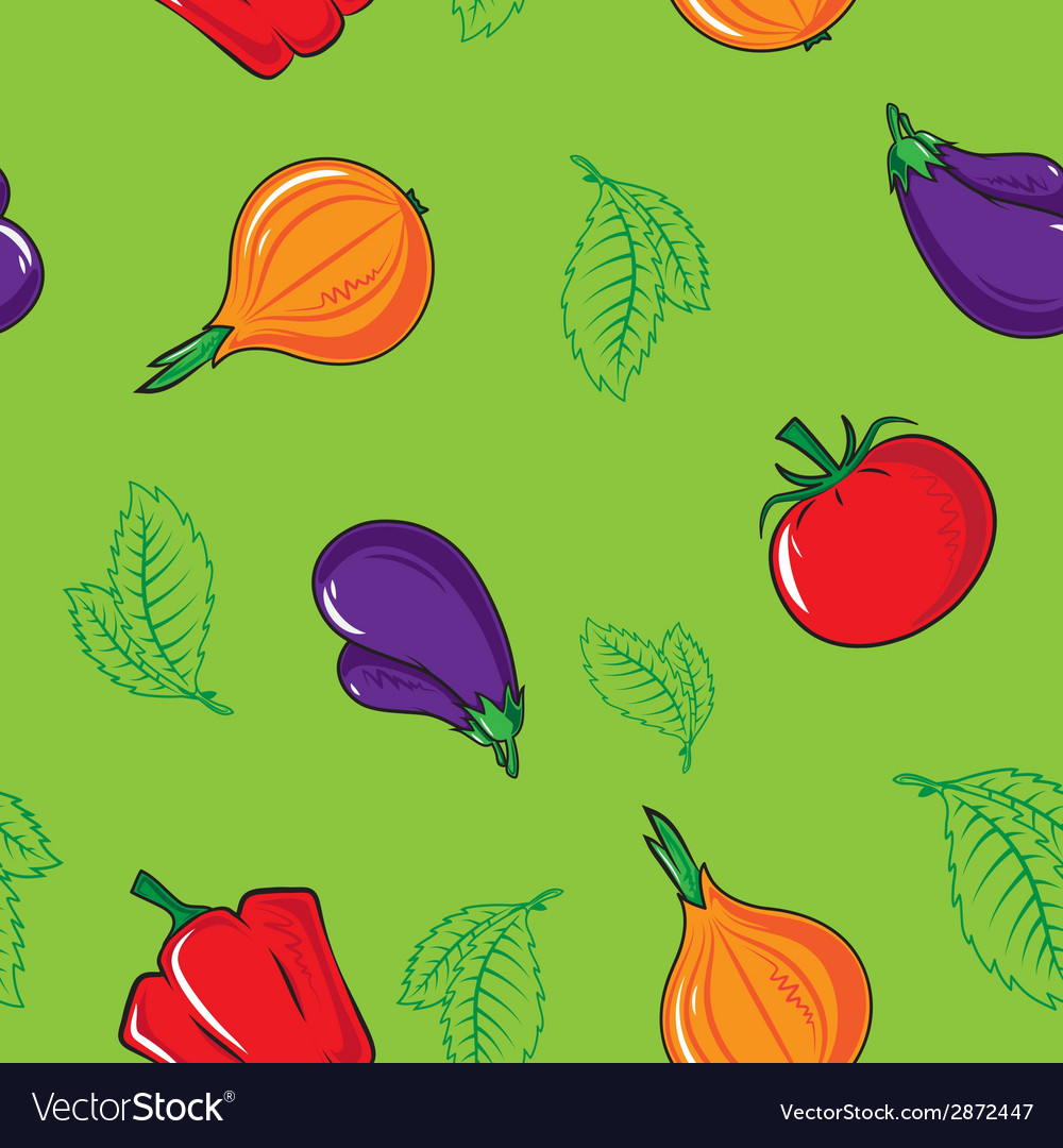 Seamless pattern with vegetables vector | Price: 1 Credit (USD $1)