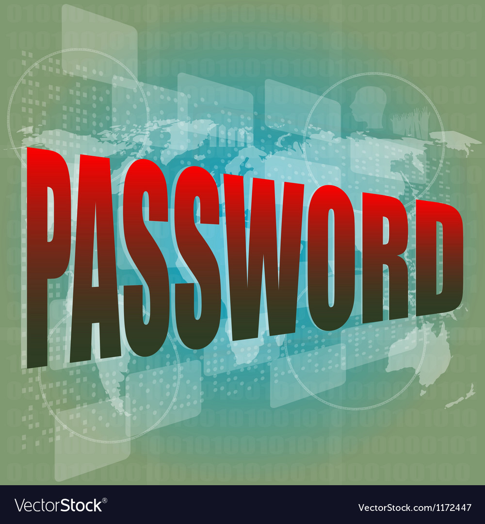 The word password on digital screen business vector | Price: 1 Credit (USD $1)
