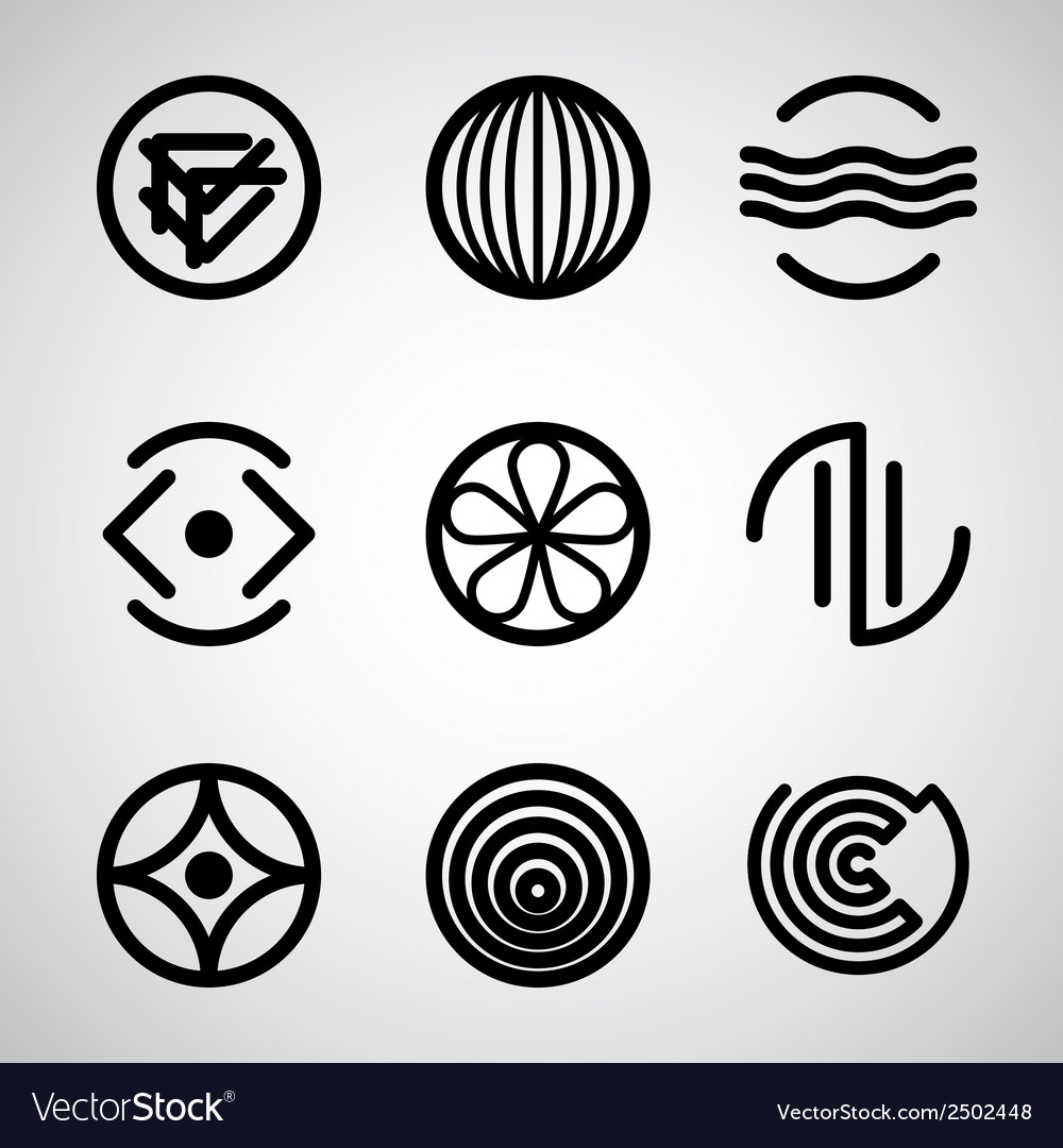 Abstract symbols set 3 vector | Price: 1 Credit (USD $1)