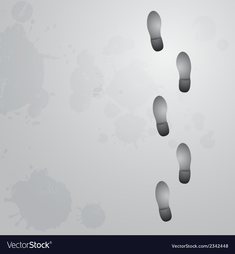 Conceptual step by step footprint vector | Price: 1 Credit (USD $1)