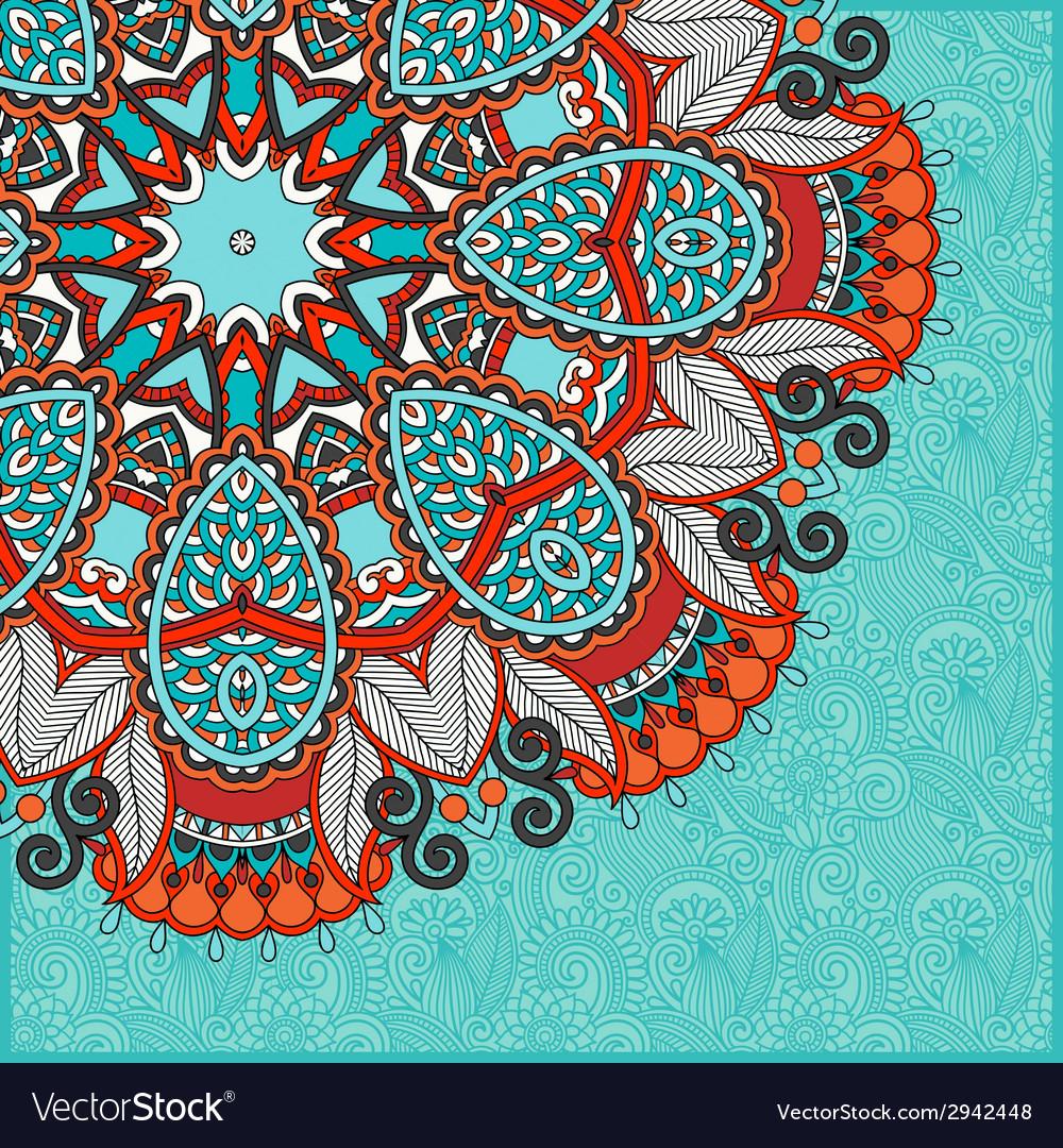 Floral round pattern in ukrainian oriental ethnic vector   Price: 1 Credit (USD $1)
