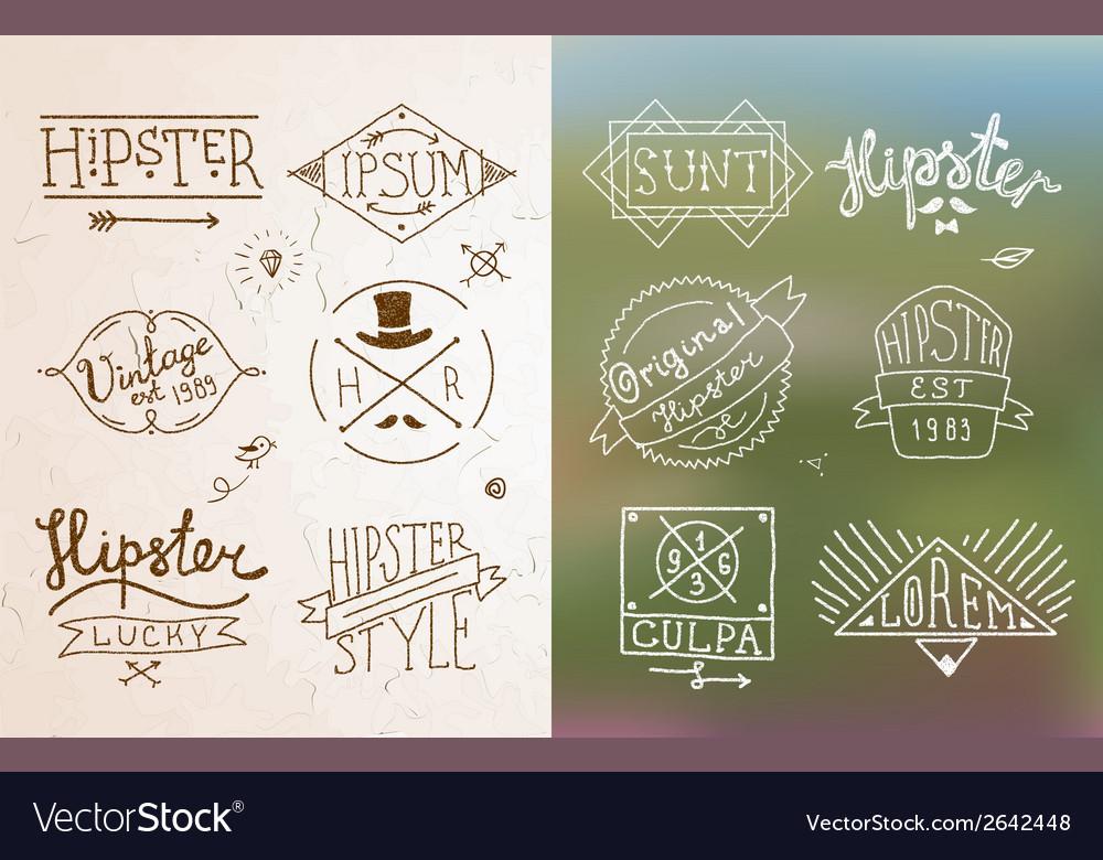 Hipster vintage emblem vector | Price: 1 Credit (USD $1)