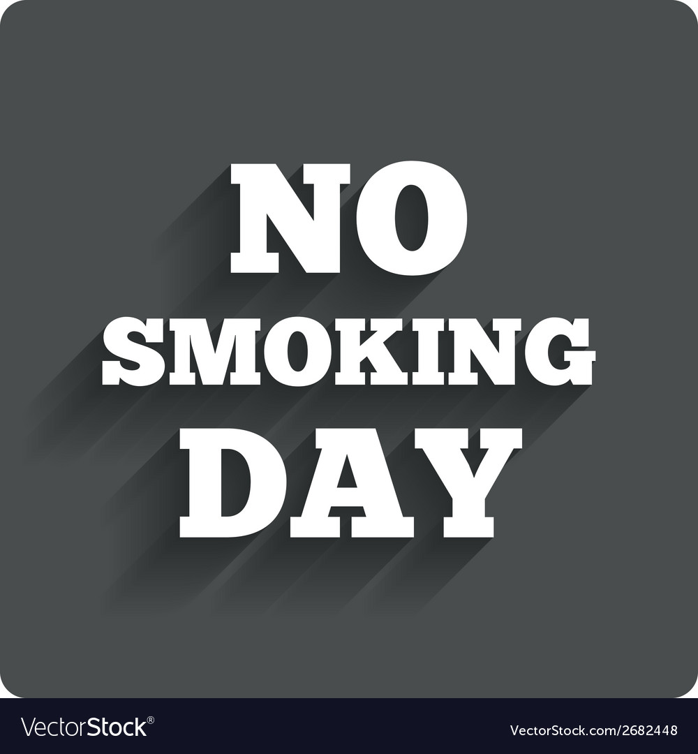 No smoking day sign icon quit smoking day vector | Price: 1 Credit (USD $1)