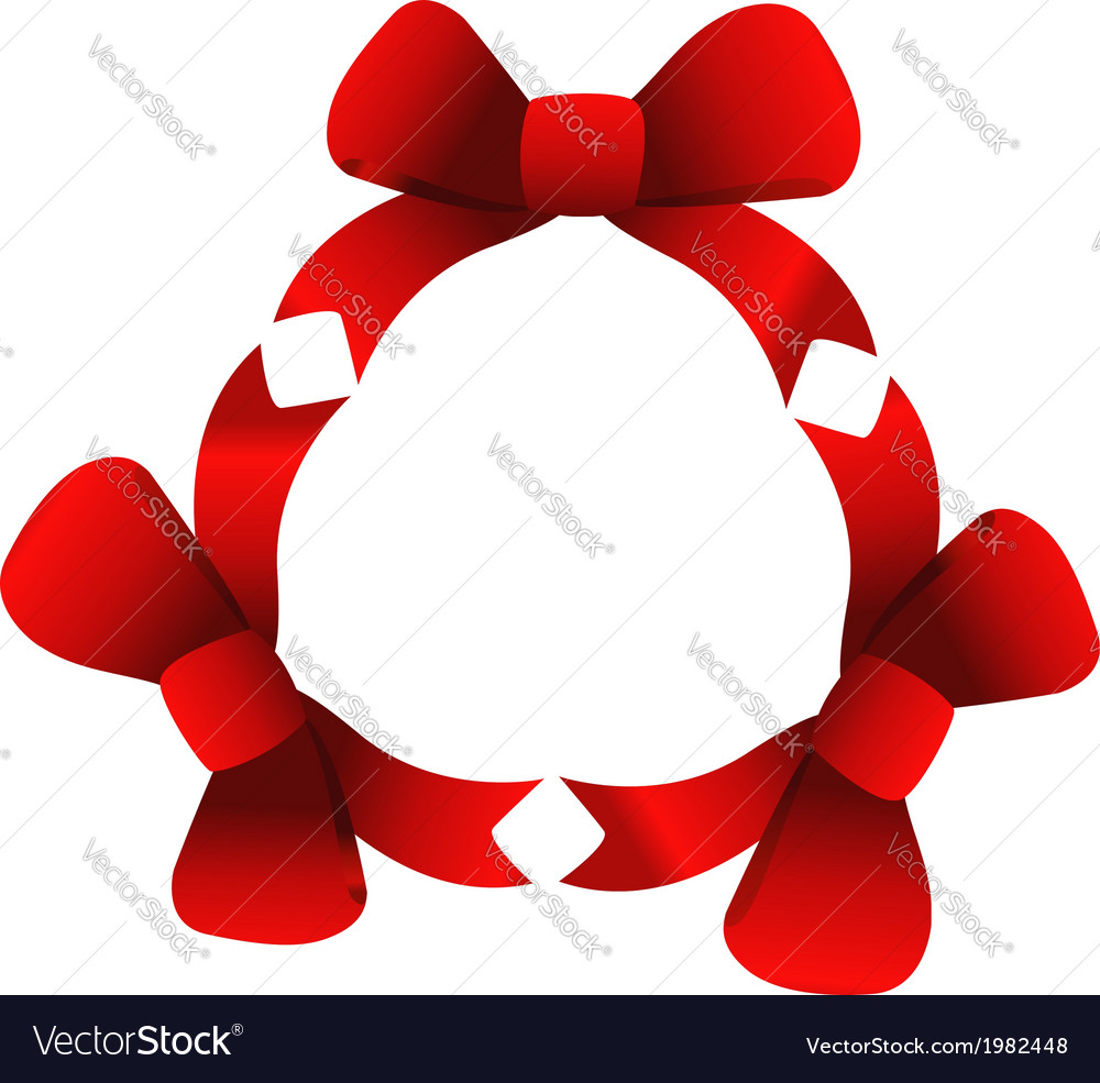 Red ribbons in circle vector | Price: 1 Credit (USD $1)