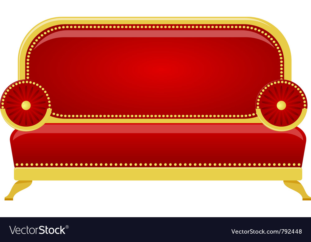 Red sofa vector | Price: 1 Credit (USD $1)