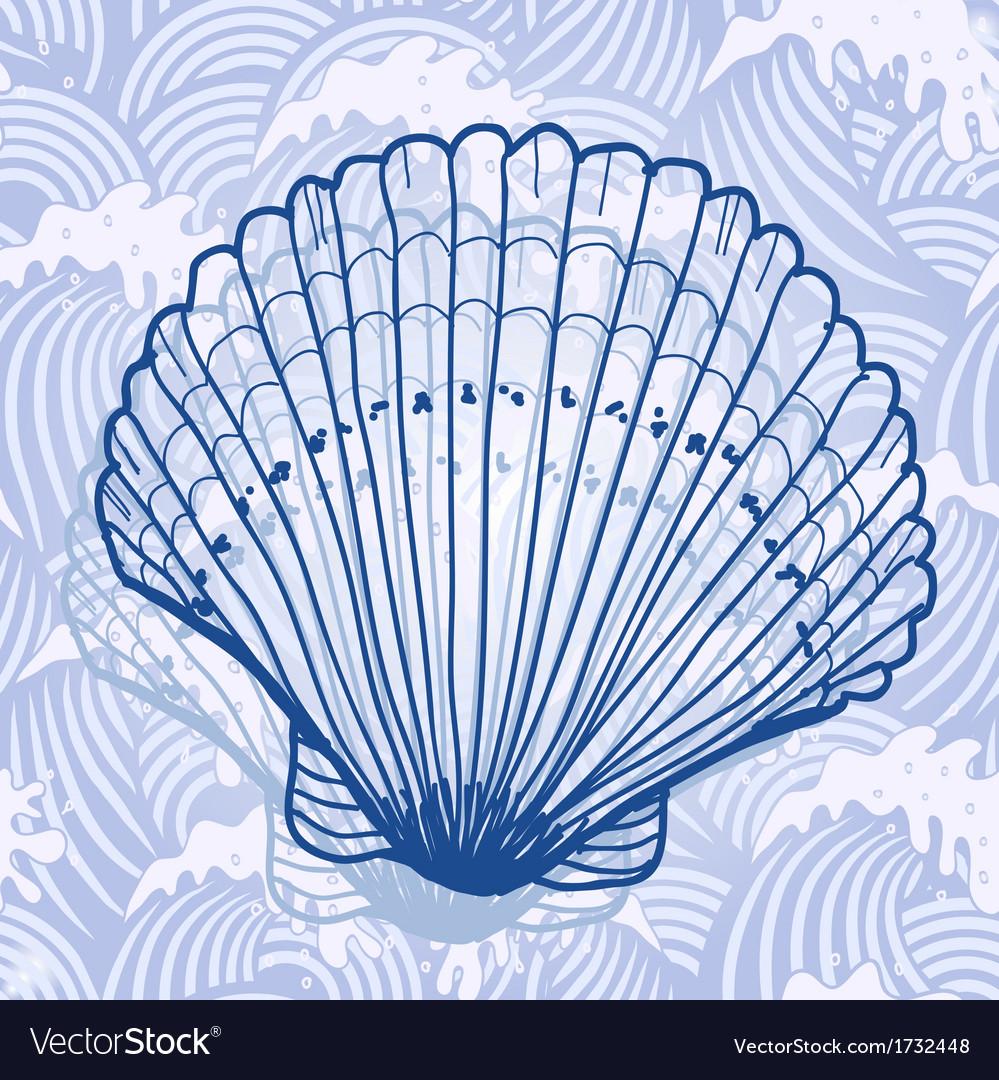 Sea shell vector | Price: 1 Credit (USD $1)