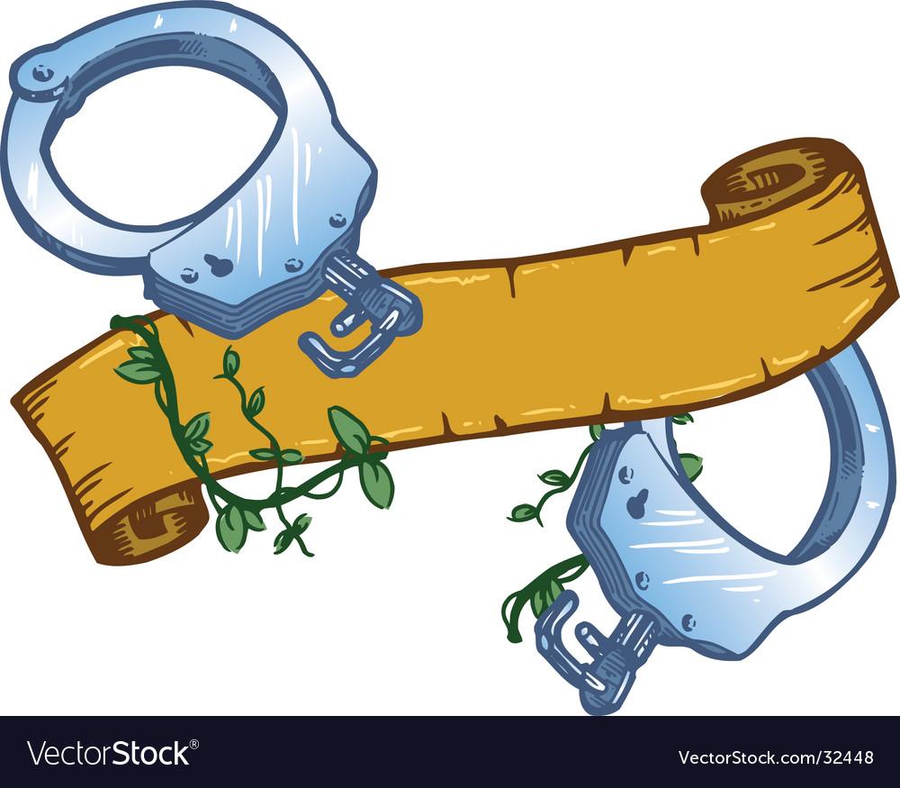Tattoo handcuffs vector | Price: 1 Credit (USD $1)